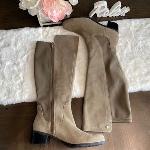 Marc Fisher suede tan boots